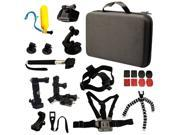 VANTRUE 26 All-in-1 Professional Sports Accessories Kit Bundle Bag for Gopro HD Hero 4/ 3+/ 3/ 2/ 1, SJCAM SJ4000 SJ5000 SJ6000 Sport Camera