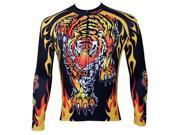 KMFEIL Mens Cycling Jersey Biking Long Sleeve Shirt Paladinsport Roaring Tiger Top