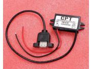 DC-DC 12V to 5V Power Converter Step-Down Module USB Output with Install Hole