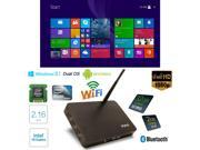 PiPo Smart TV Box Mini PC Intel Quad Core 2.16GHz Dual OS Android 4.4 & Official Windows 8.1 RAM:2GB/ROM:32GB Black