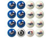 Los Angeles Dodgers MLB 8-Ball Billiard Set