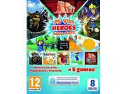 Heroes Mega Pack & 8gb memory Card