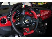 Fiat 500 Abarth 2008-15 steering wheel cover by RedlineGoods