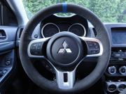 Mitsubishi Lancer Evo X 2008-15 steering wheel cover by RedlineGoods