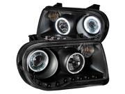 Black CCFL Halo Projector Headlights - Anzo