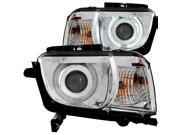 Chrome/Clear CCFL Halo Projector Headlights - Anzo