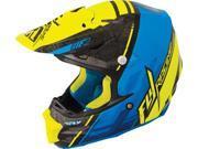 Fly Racing F2 Carbon Canard Helmet Black/Blue/Hi-Vis 2X 73-40932X