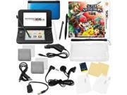 Nintendo 3DS XL Blue Bundle with Super Smash Bros & 17 in 1 Kit