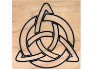 Trinity Symbol Rubber Stamp