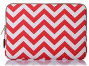 Mosiso - Chevron Canvas Fabric 13-13.3 Inch Laptop Sleeve Case Bag Cover