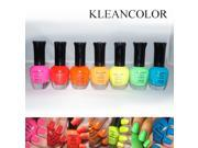 Nail Polish Set of 7 Neon Colors Art Collection Pink Red Blue