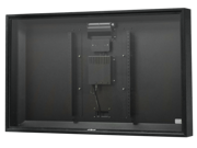 """Apollo Outdoor TV Enclosure for 39""""-42"""" slim LED TV's, Model AE4239-CM-BL.  Includes weatherproof adjustable height ceiling mount - Black"""