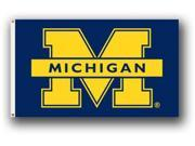 University of Michigan - 3' x 5' Polyester Flag (center wording)