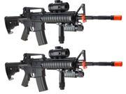 Lot of Two M83 A2 M4 Style Semi and Fully Automatic Electric AEG Airsoft Rifles