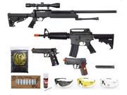 JG AEG Airsoft Rifle 2 WG Pistols WELL Sniper Rifle Airsoft Wholesale Combo Lot