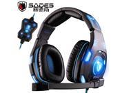SADES SA-907 Powerful Bass Stereo Earphone 7.1 Sound Glittering Gaming Headset Game Headphones with Microphone