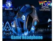 High Quality Brand SADES A60 Professional Gaming Headset Vibration Function 7.1 Surround Sound Headphones for PC gamer Earphone