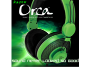 Razer Headphones Gaming Headset PC Orca Expert Game Headset Original Brand Green without Microphone