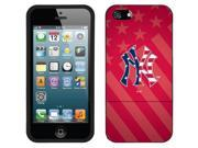 Coveroo iPhone 5/5S Black Slider Case with New York Yankees USA Red Design