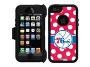 OtterBox iPhone 5/5S Black Defender Series Case with Philadelphia 76ers Polka Dots Design by Coveroo