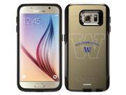 OtterBox Samsung Galaxy S6 Black Commuter Series Case with University of Washington Light Watermark Design by Coveroo