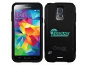OtterBox Samsung Galaxy S5 Black Commuter Series Case with Tulane Green Wave Banner Design by Coveroo