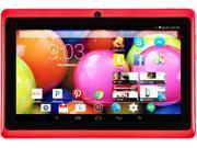 "DeerBrook® 7"" DB+ Quad Core, 8GB Storage, 1024x600 Display, Google Android 4.4 KitKat Tablet PC, Dual Camera, Bluetooth, WiFii (Red)"