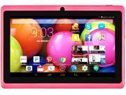 """DeerBrook® 7"""" DB+ Quad Core, 8GB Storage, 1024x600 Display, Google Android 4.4 KitKat Tablet PC, Dual Camera, Bluetooth, WiFi (Pink)"""