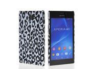 MOONCASE Hard Rubber Leopard Pattern Style Coating Back Case Cover For Sony Xpreia M2