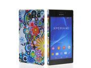 MOONCASE Hard Rubber Flower Pattern Style Coating Back Case Cover For Sony Xpreia M2