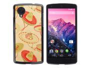 MOONCASE Hard Protective Printing Back Plate Case Cover for LG Google Nexus 5 No.5003165