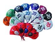 Sprint Water Polo Swim Caps #14-21 White Cap w/ Red Numbers