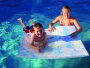 Swim Flotation Flo-Through Pool Mat - Blue