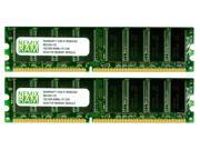 NEMIX RAM 2GB (2 X 1GB) DDR 400MHz PC3200 184-pin DIMM Desktop PC Memory
