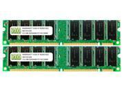 NEMIX RAM 1GB (2 X 512MB) SDRAM PC100 168-pin DIMM Desktop PC Memory