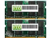 NEMIX RAM 4GB (2 x 2GB) DDR2-800MHz PC2-6400 200-pin 1.8V 2Rx8 Laptop Memory Module