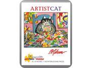 Artist Cat 100 Piece Puzzle by Pomegranate