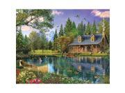 Mountain Cabin 1000 Piece Puzzle by White Mountain Puzzles