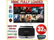 Android 4.4 Smart TV BOX Quad Core 2GB+32GB WIFI 1080P HDMI Media Player XBMC Fully Loaded with Free Popular Moving Channels