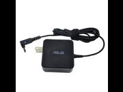 Genuine Original Asus 45W AC Adapter for Asus VivoBook X200 Series: X200CA, X200CA-DB01T, X200CA-DB02, X201, X201E, X201E, X201E-DH01, X201E-KX003H, X201E-KX006H, with P/N: ADP-45AW A, 90-XB3NN0PW0001