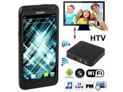 POMP P8 Black, Android 4.0.4 Version, 4.3 inch Capacitive Touch Screen HTV Mobile Phone, CPU Chip: MTK6575 1.0GHz, RAM: 512MB, ROM: 4GB, Support WIFI + Bluetooth + FM function, Single SIM Card & Dual