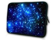 """WATERFLY Fashion Endless Universe Twinkling Blue Stars DOUBLE Sided Print 15"""" 15.6"""" Inch Laptop Sleeve Bag for Apple Macbook pro, air, Vostro, Samsung,Dell Inspiron, Toshiba ,ASUS UL30 Notebook"""