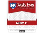 Nordic Pure 16x25x1 MERV 11 AC Furnace Air Filters Qty 3