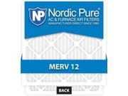 Nordic Pure 16x25x1 MERV 12 AC Furnace Air Filters Qty 12