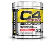 Cellucor C4 Ripped Preworkout Thermogenic Fat Burner Powder, Pre Workout Energy & Weight Loss, 30 Servings, Fruit Punch