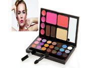 MakeupAcc® 21 Colors Blusher Combo Make Up Kit Eyebrow Cream Eyeshadow Blush Palette Set (#1)