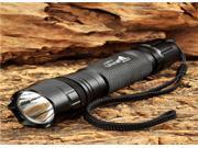 Aikoi® UltraFire LLZ-U2 600lm 5-Mode Memory White Tactical Flashlight w/ Cree XM-L U2 - Black (1 x 18650)