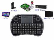 Aikoi iPazzPort Raspberry Pi Mini Wireless Handheld Remote Control Keyboard with Multi-Touch Touchpad Work for Android and Google Smart TV XBMC KP-810-21B