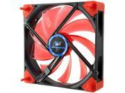 Kingwin DB-124 Duro Bearing 120mm Red Blade / White LED PC Computer Case Fan
