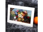 "10"" Inch HD LCD Digital Photo Frame Alarm Clock Media Player + Remote White EU"